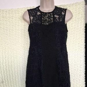Nanette Lepore Embroidered Dress NAVY Size 2 #57